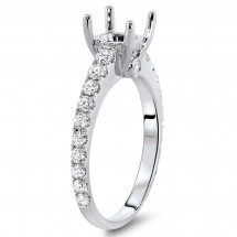 Engagement Ring with Side Stones for 1.5 ct Stone | AR14-013