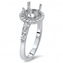 Round Halo Filigree Engagement Ring for 2ct Stone