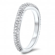 Shadow Pave Wedding Band