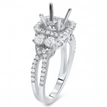 Halo Engagement Ring for 1 Carat Stone