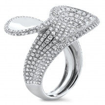 Pave Diamond Fashion Ring 2.98ct