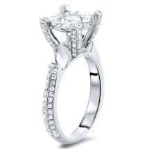 Modern Illusion Engagement Ring 1.46ct