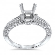 Pave Antique Engagement Ring