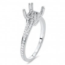 Pave Double Prong Engagement Ring for 1 ct Center Stone | AR14-205