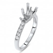 Square Past Present Future Engagement Ring for 1.25 Carat Stone