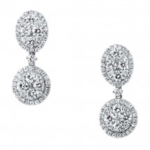 Illusion Halos Head Diamond Earrings 2.27ct