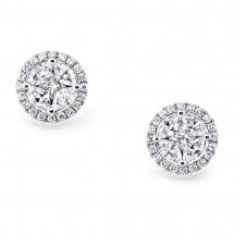 Illusion Ladies Diamond Earrings 2.35ct
