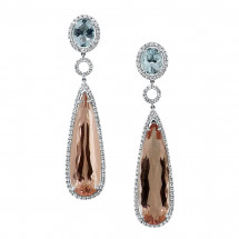 Morganite Aquamarine Stone Earrings 33.02ct | AE14-007