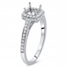 Square Halo Engagement Ring for 2ct Center Stone