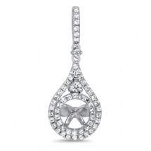 Micro Pave Diamond Pendant for 0.39ct Stone