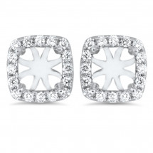 Cushion Halo Earrings for 0.75 ct Stone