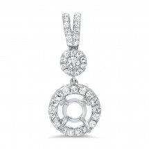 Halo Bail Diamond Pendant for 1 ct Stone