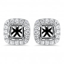 Cushion Halo Earrings for 1.5ct Center Stone | AE14-013