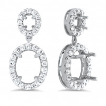 Oval Halo Earrings for 1.5 ct Center Stone