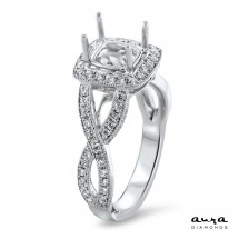 Square Halo Modern Engagement Ring for 1.25ct Stone | AR14-086