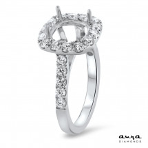 Cushion Halo Engagement Ring for 1.5ct Stone