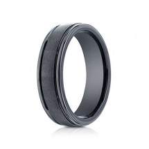 6mm Ceramic Ring With Satin Finish & High Polished Eges