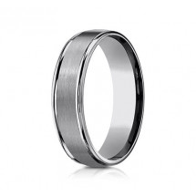 6mm Tungsten Ring With Satin Finish & High Polish
