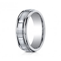 7mm Cobalt Ring with Satin Finish Sections