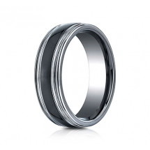 7mm Tungsten Ring With Ceramic Inlay
