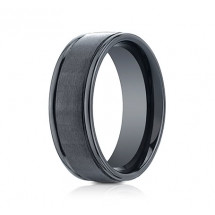 8mm Ceramic Ring With Satin Finish & High Polished Eges