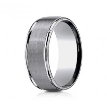 8mm Tungsten Ring With Satin Finish & High Polish