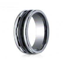 8mm Tungsten Ring with Ceramic Inlay