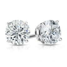 1 ct. tw. Round Cut Diamond Earrings Studs