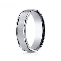 6mm Titanium Ring With Satin Finish & High Polished Eges