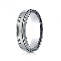 6mm Titanium Ring With Satin Finish & Beveled Edges