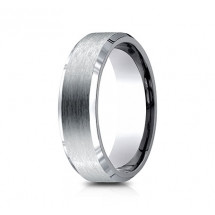7mm Titanium Ring With Satin Finish & Beveled Edges
