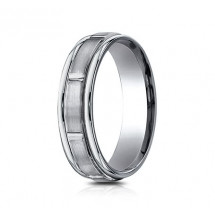 6mm Titanium Ring with Satin Finish Sections