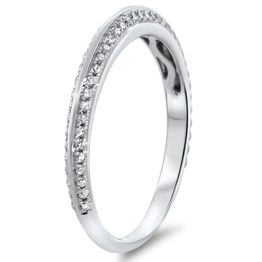 Double Row Diamond Wedding Band 0 31ct Ar14 245
