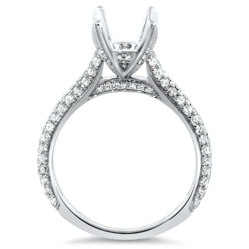 Pave Engagement Ring 86 For 1 Ct Center Stone Ar14 101