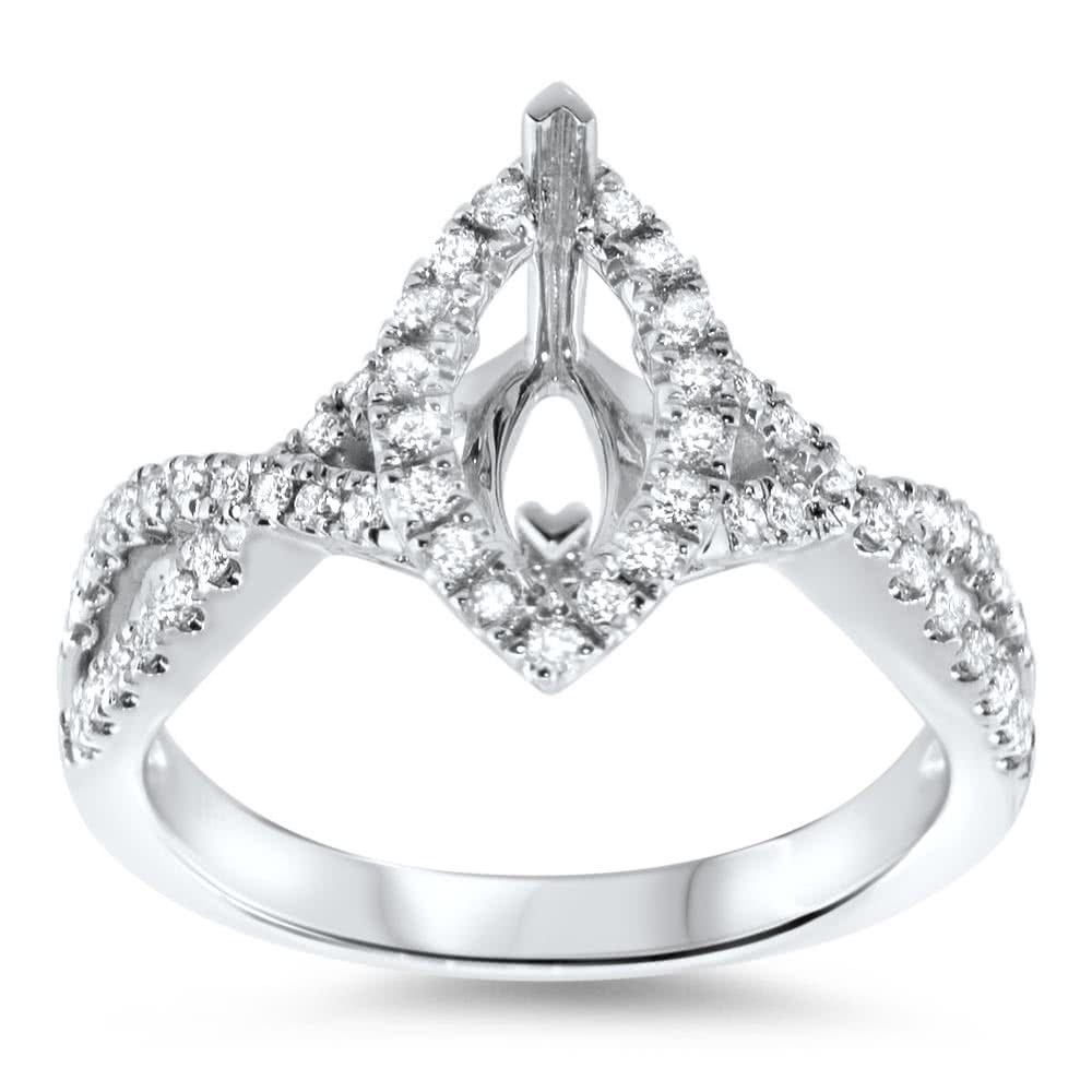 Infinity Marquise Halo Engagement Ring For 1 Stone Ar14