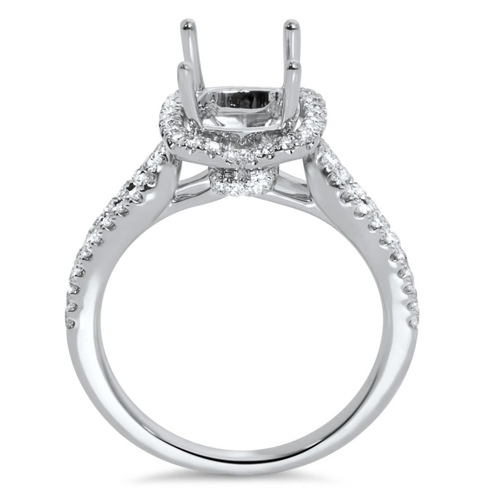 Halo Engagement Ring For 2 Carat Center Stone Ar14 136