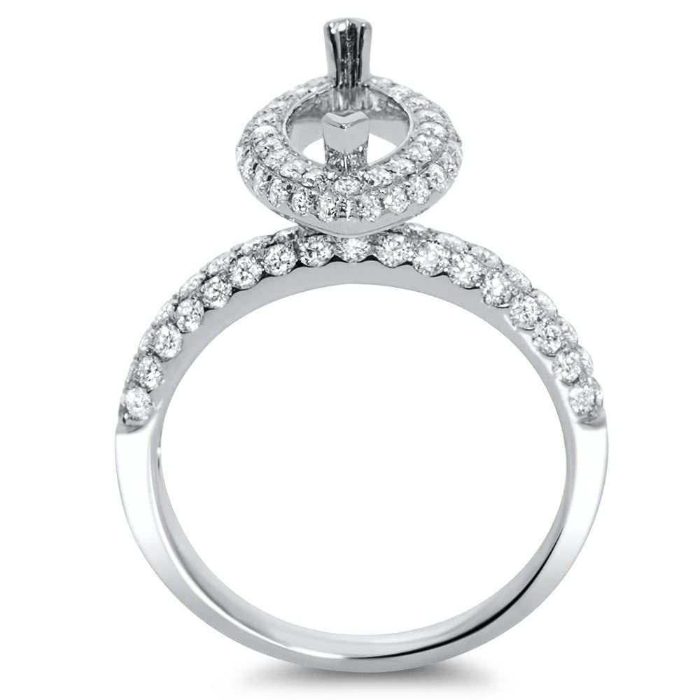 Marquise Halo Engagement Ring For 1 5 Ct Center Stone