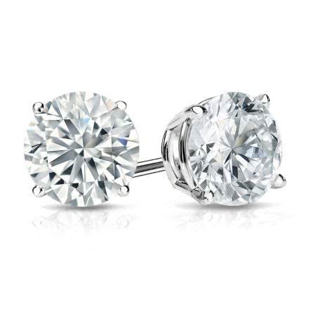Round Cut Diamond Earrings Studs Ae14 017